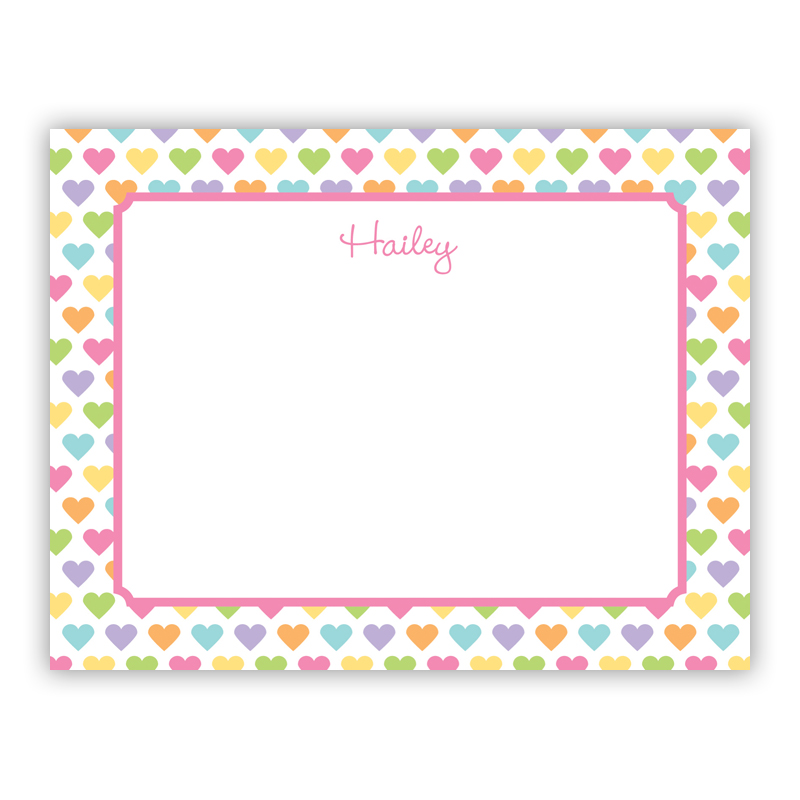 Candy Hearts Small Flat Stationery Note