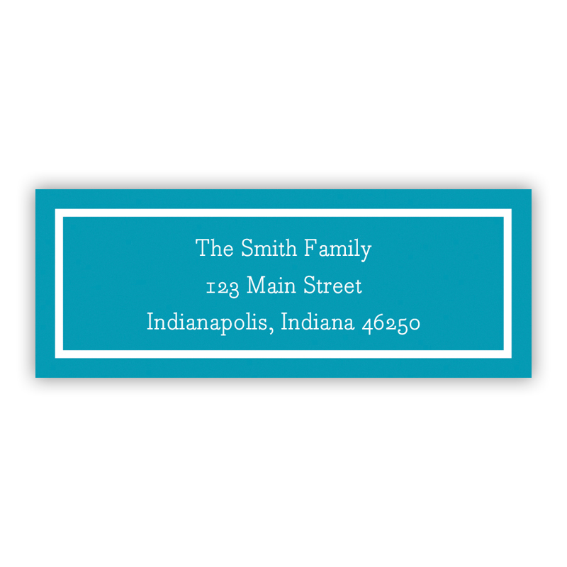 Classic Turquoise Return Address Label, 90 labels