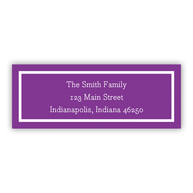 Classic Plum Return Address Label, 90 labels
