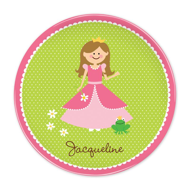 Personalized Princess Portrait, Customized 10 inch Plate