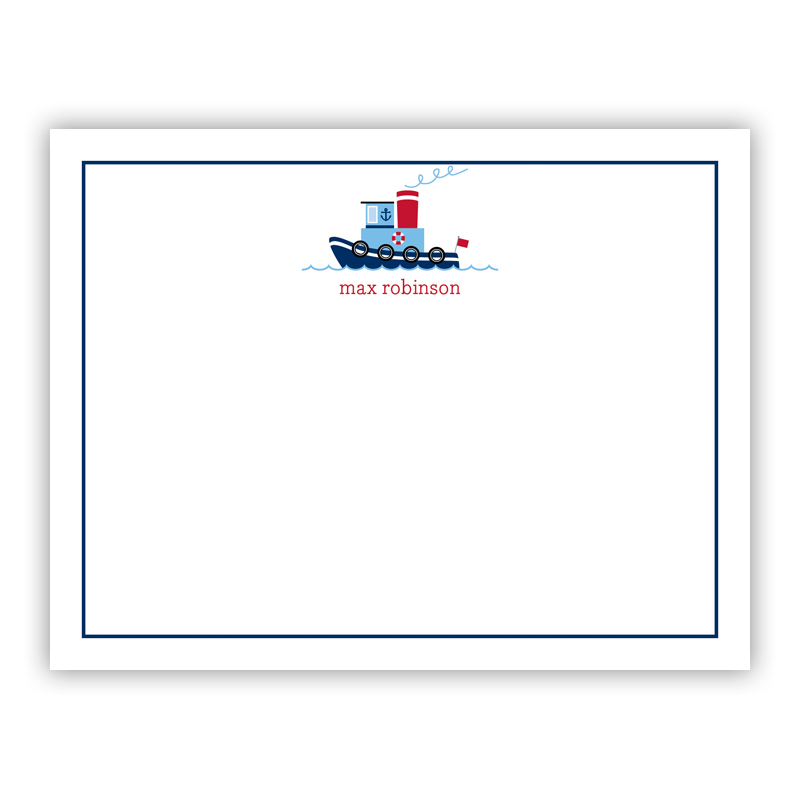 Tug Small Flat Stationery Note