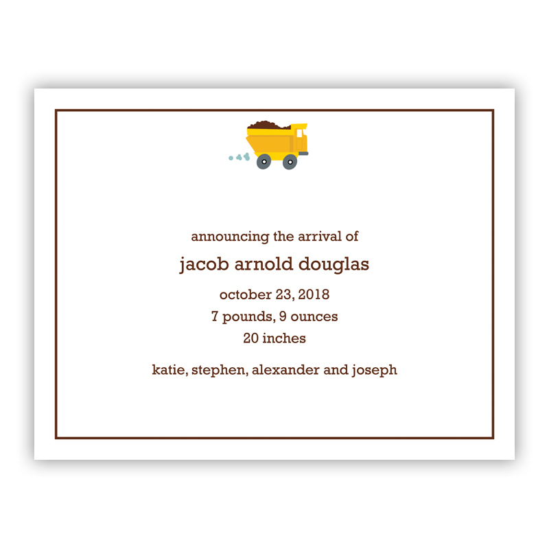 Truck Small Flat Invitation or Announcement