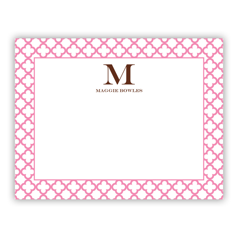 Bristol Petite Pink Small Flat Stationery Note