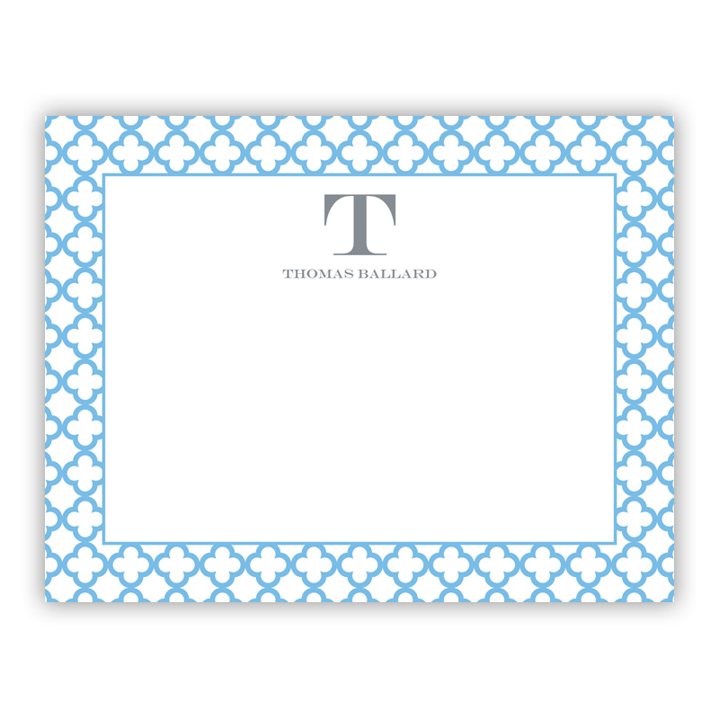 Birstol Petite Blue Small Flat Stationery Note