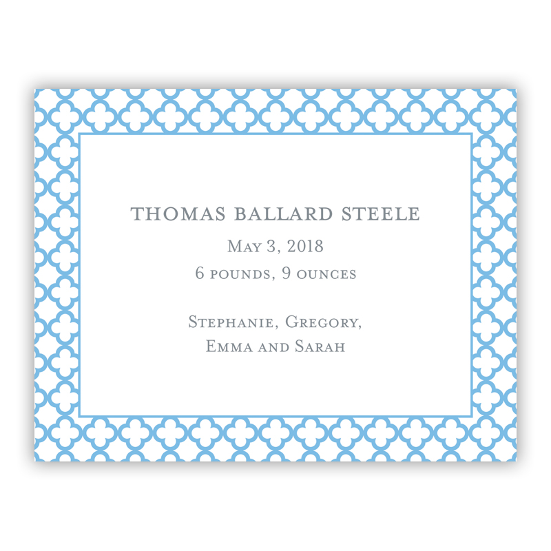 Birstol Petite Blue Small Flat Invitation or Announcement