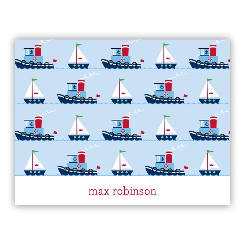 Tug Stationery, 25 Foldover Notecards