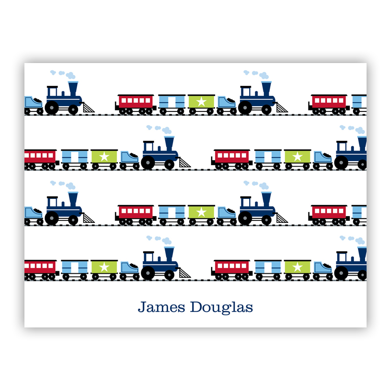 Choo Choo Train Stationery, 25 Foldover Notecards