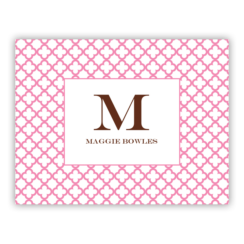 Bristol Petite Pink Stationery, 25 Foldover Notecards