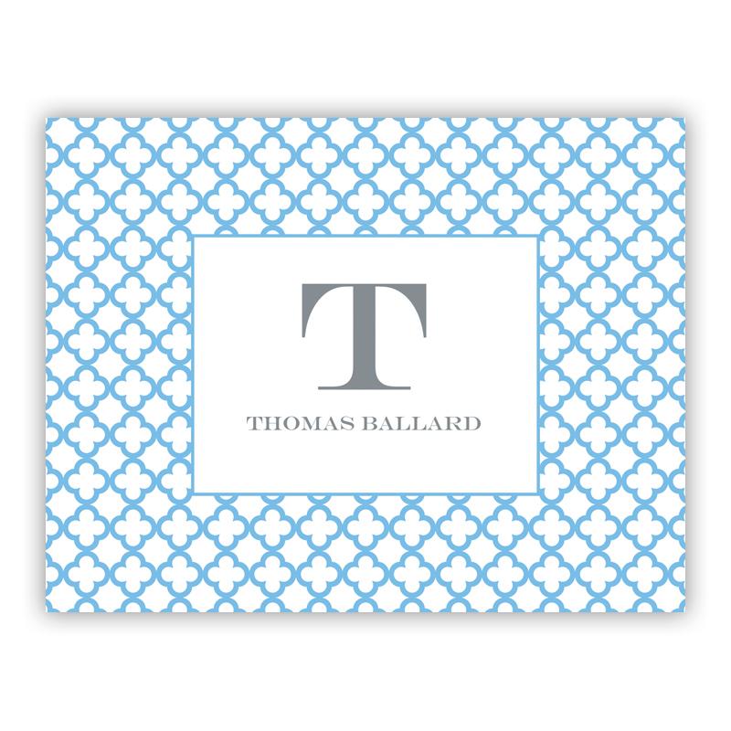 Bristol Petite Blue Stationery, 25 Foldover Notecards
