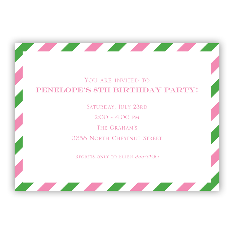 Via Pink & Green Invitation or Announcement, sets of 25