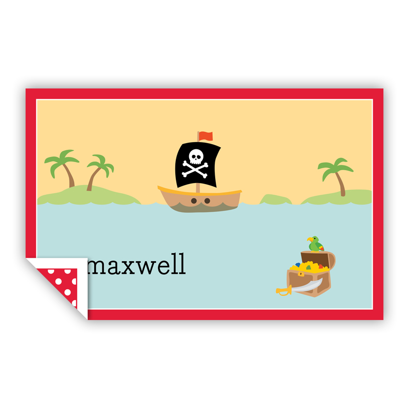 Pirate Personalized Laminated Placemat
