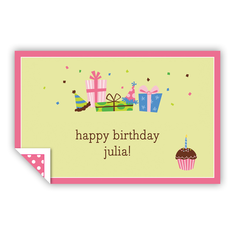 Birthday Lime Personalized Laminated Placemat