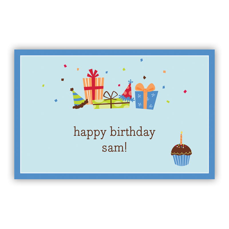 Birthday Sky Disposable Personalized Placemat, 25 sheet pad