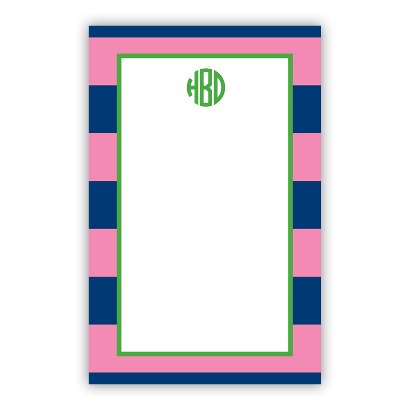 Personalized Rugby Navy & Pink Notepad (100 sheets)