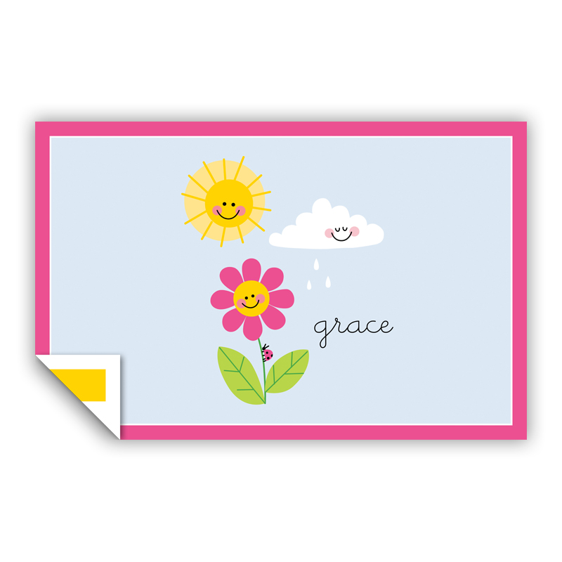 Happy Daisy Personalized Laminated Placemat