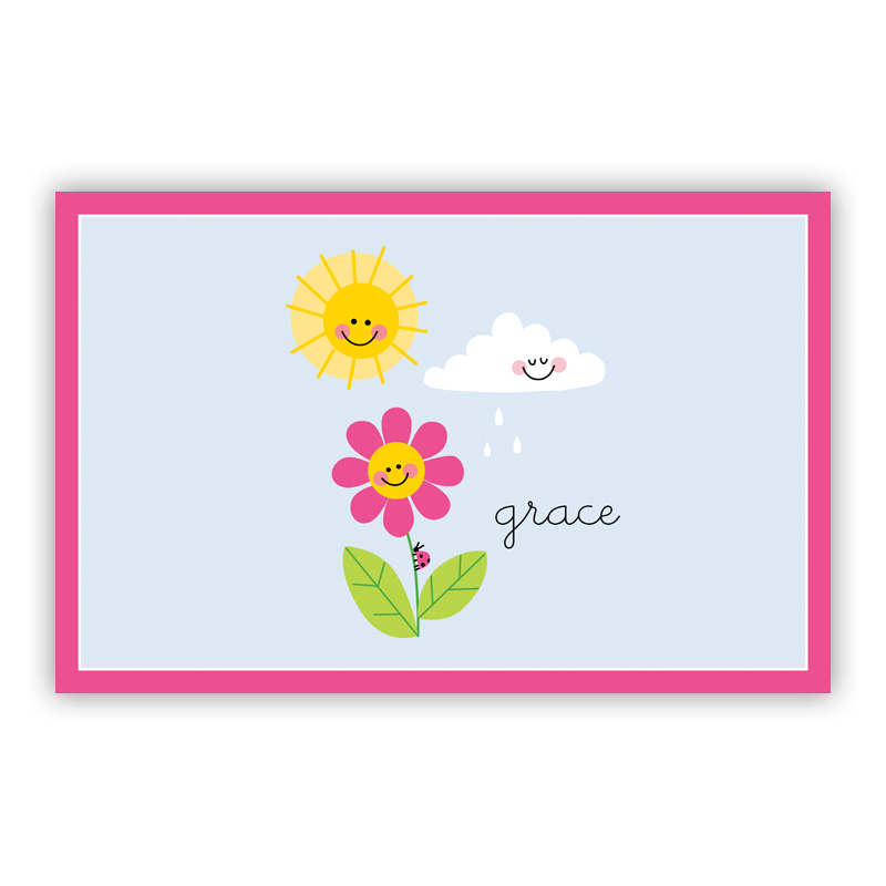 Happy Daisy Disposable Personalized Placemat, 25 sheet pad