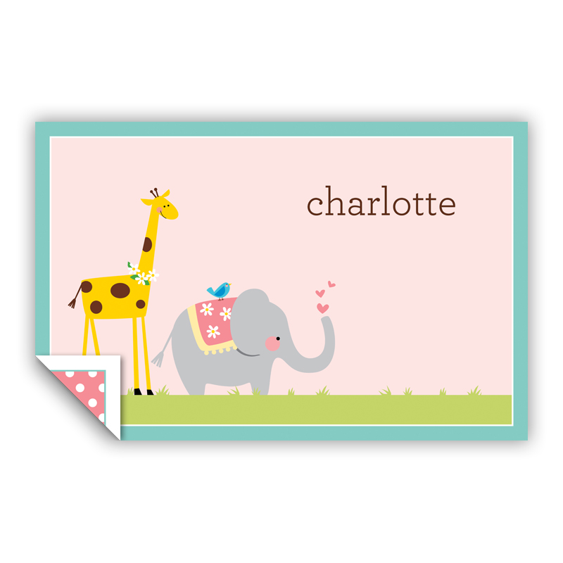 Animal Parade Personalized Laminated Placemat