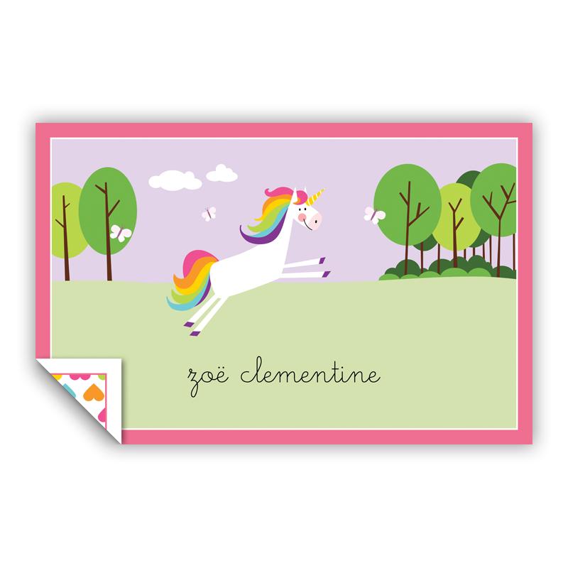 Unicorn Personalized Laminated Placemat