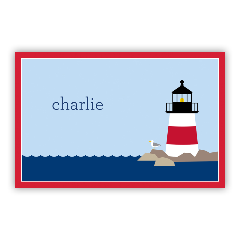 Lighthouse Disposable Personalized Placemat, 25 sheet pad