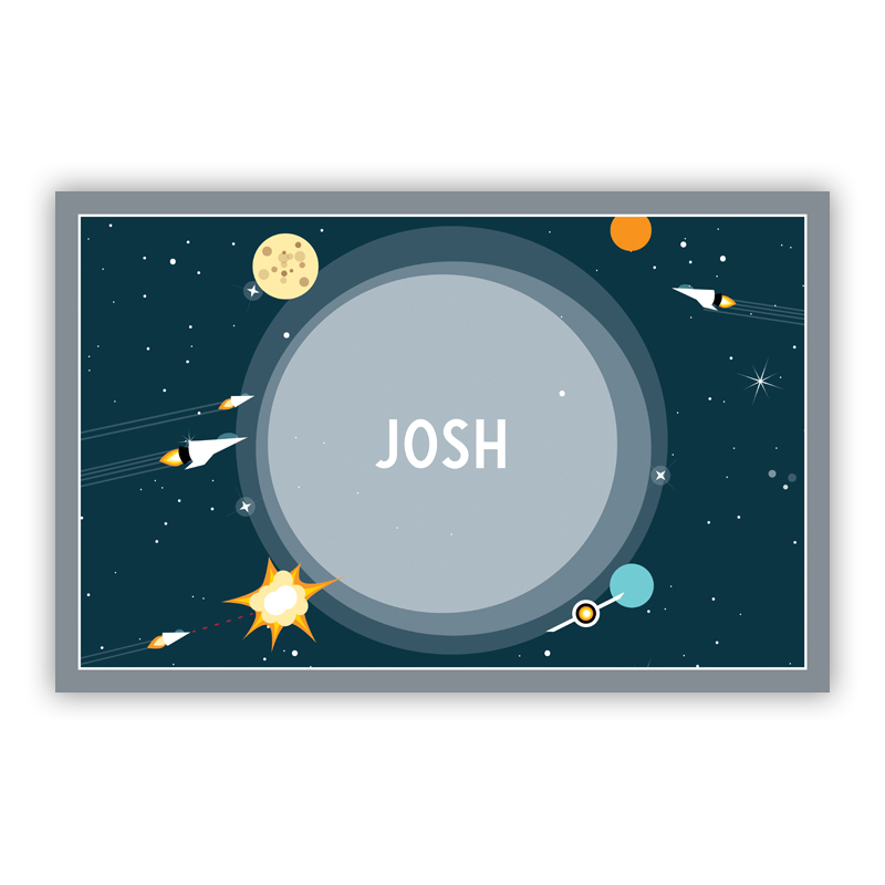 Galaxy Disposable Personalized Placemat, 25 sheet pad