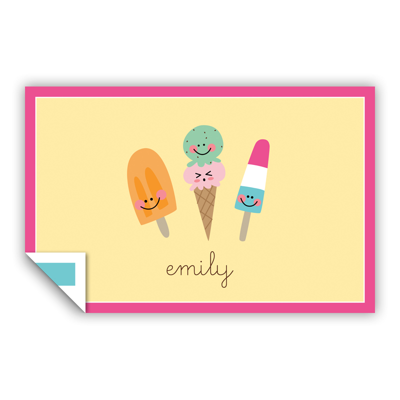 Icy Treats Personalized Laminated Placemat