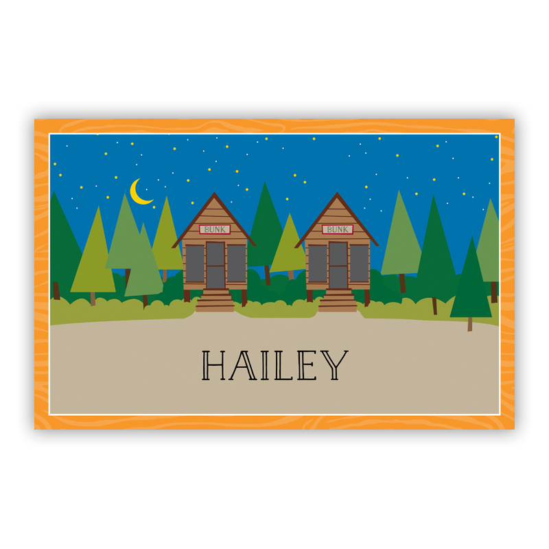 Bunks Disposable Personalized Placemat, 25 sheet pad