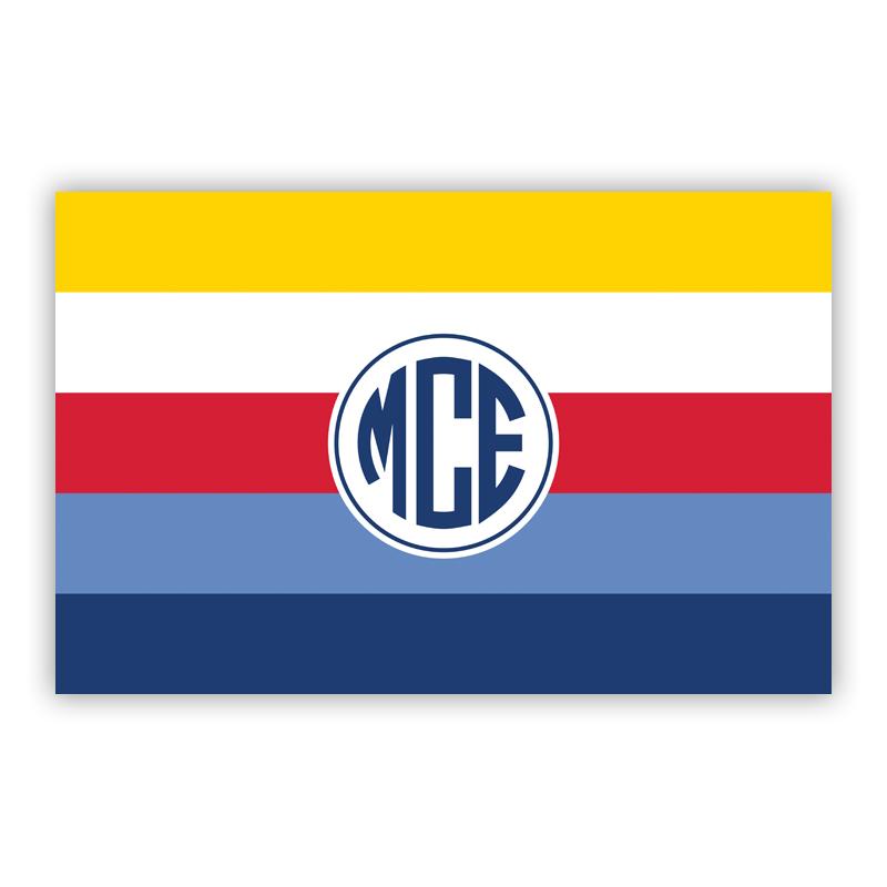 Bold Stripe Nautical Personalized Laminated Placemat