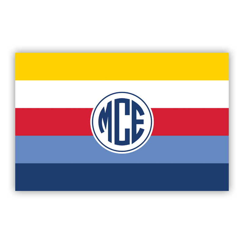 Bold Stripe Nautical Disposable Personalized Placemat, 25 sheet pad