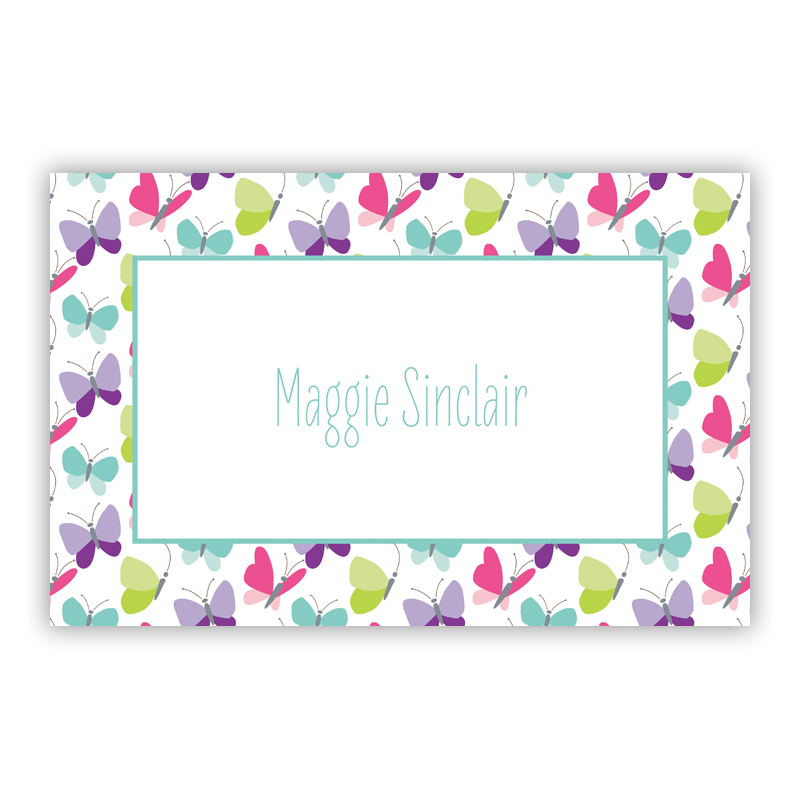 Flutter Disposable Personalized Placemat, 25 sheet pad
