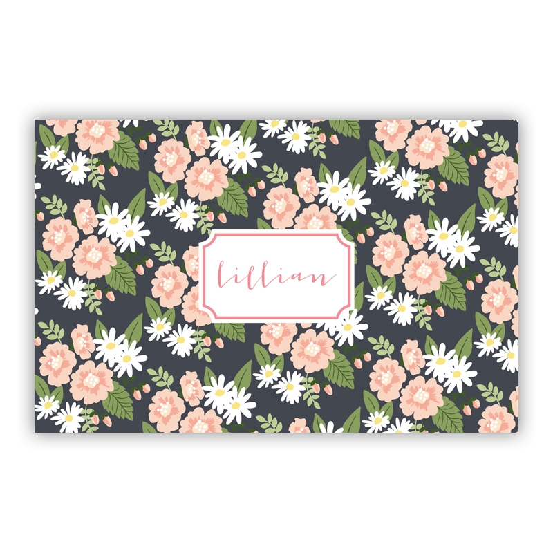 Lillian Floral Personalized Laminated Placemat