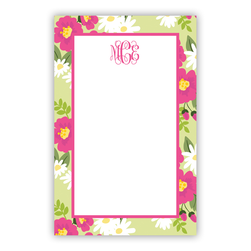 Personalized Lillian Floral Bright Notepad (100 sheets)