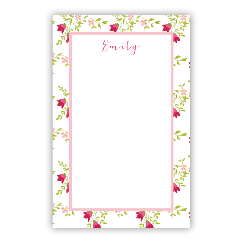 Camryn Floral 150 Refill Note Sheets, Personalized
