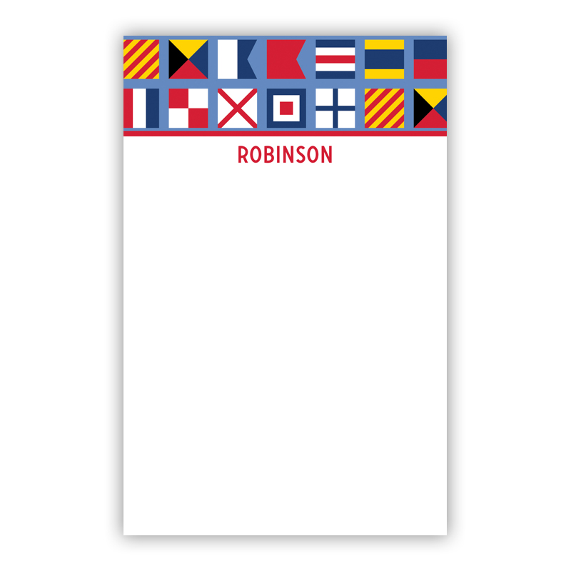 Personalized Nautical Flags Notepad (100 sheets)
