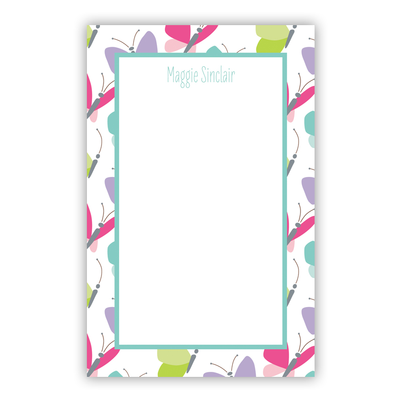 Personalized Flutter Notepad (100 sheets)