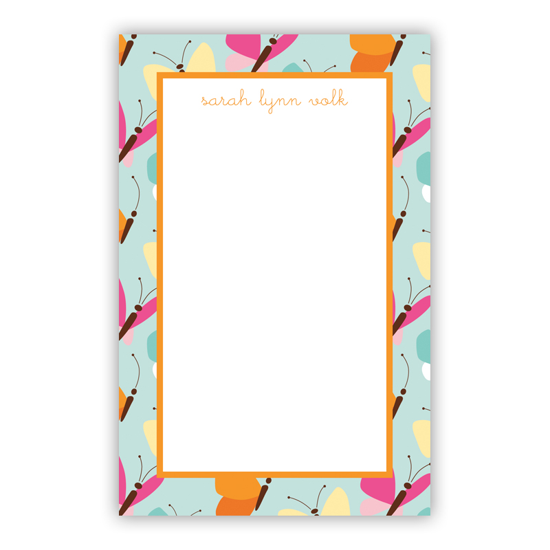 Flutter Teal 150 Refill Note Sheets, Personalized