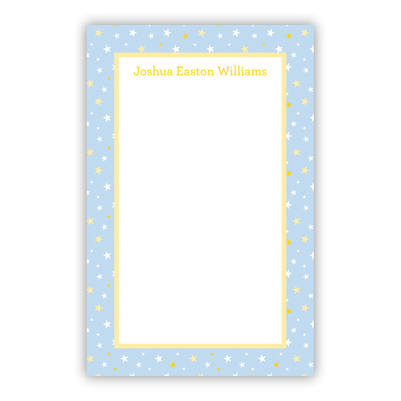 Twinkle Star Light Blue 150 Refill Note Sheets, Personalized
