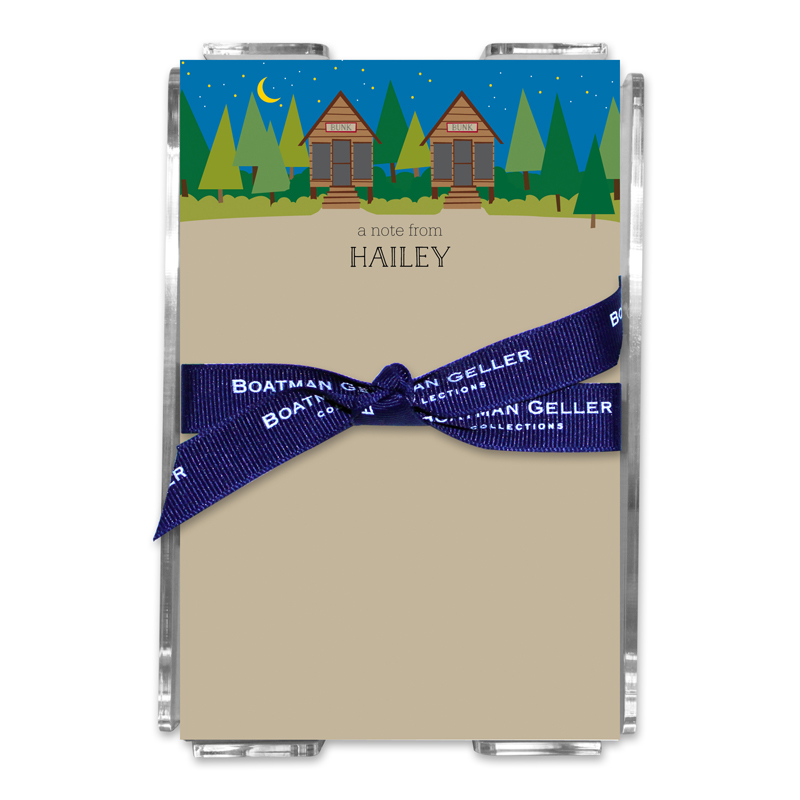 Personalized Bunks Note Sheets in Acrylic Holder