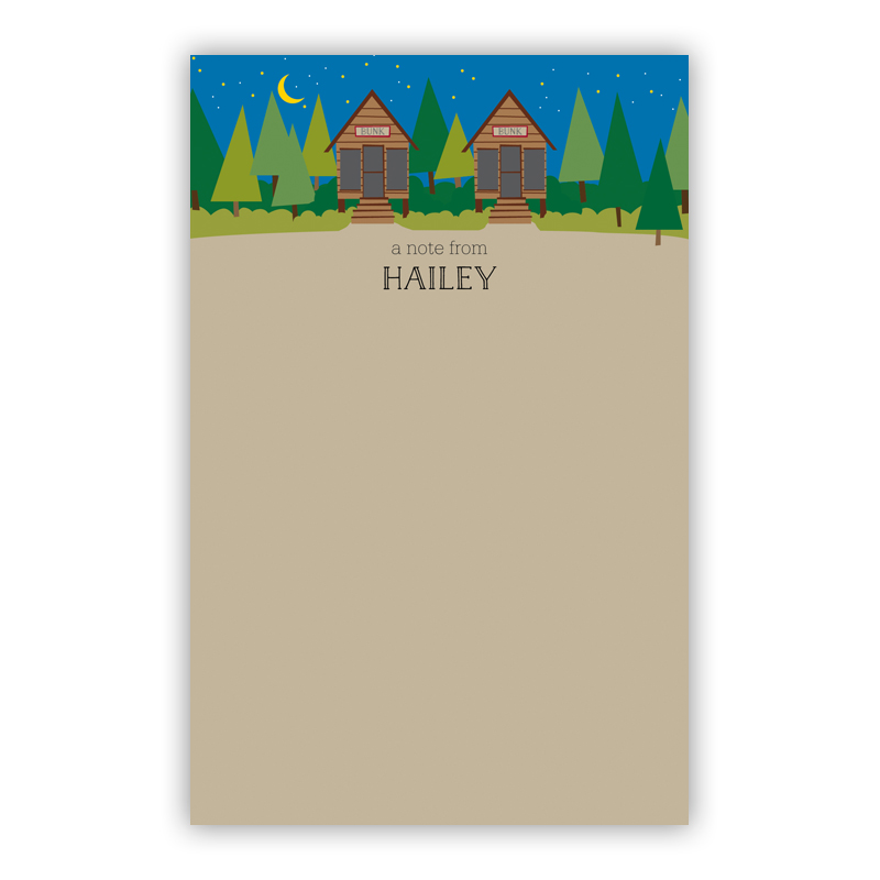 Bunks 150 Refill Note Sheets, Personalized