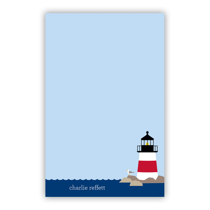 Personalized Lighthouse Notepad (100 sheets)