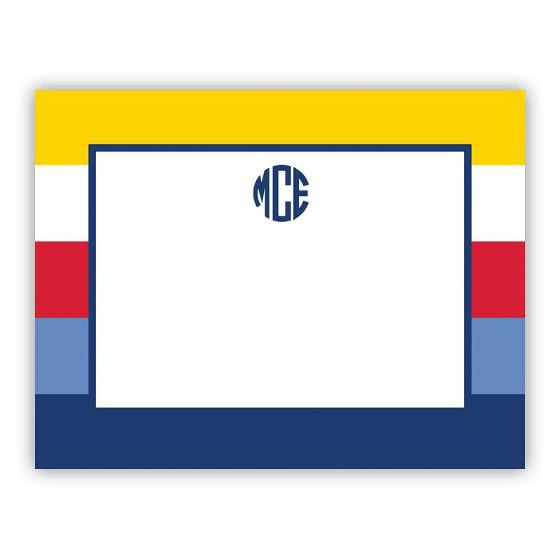 Bold Stripe Nautical Small Flat Stationery Note