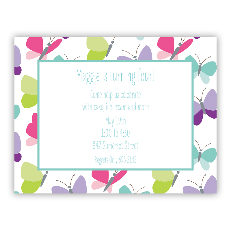 Flutter Small Flat Invitation or Announcement
