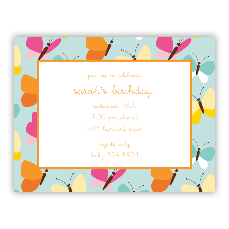 Flutter Teal Small Flat Invitation or Announcement