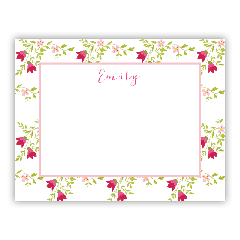 Camryn Floral Small Flat Stationery Note