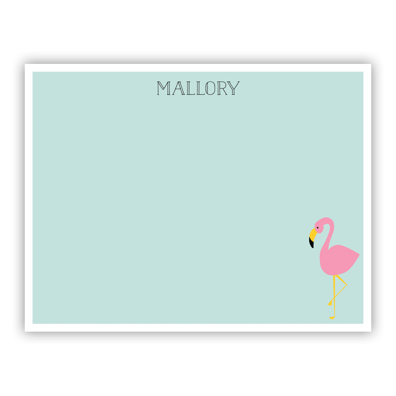 Flamingo Small Flat Stationery Note