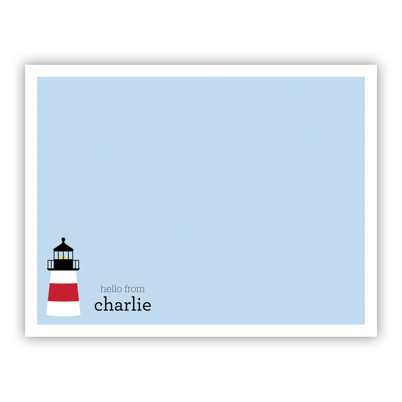 Lighthouse Small Flat Stationery Note