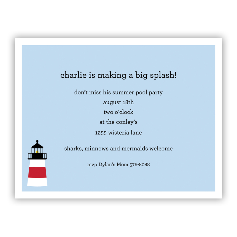 Lighthouse Small Flat Invitation or Announcement