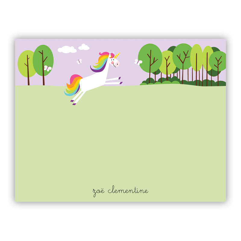 Unicorn Small Flat Stationery Note