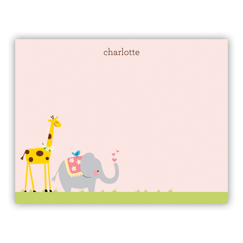 Animal Parade Small Flat Stationery Note