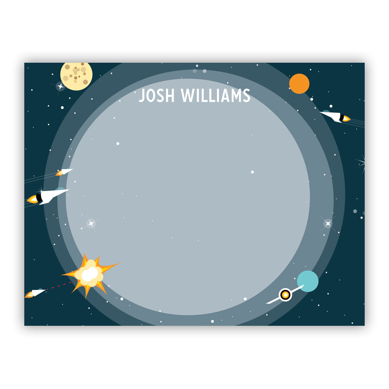 Galaxy Small Flat Stationery Note