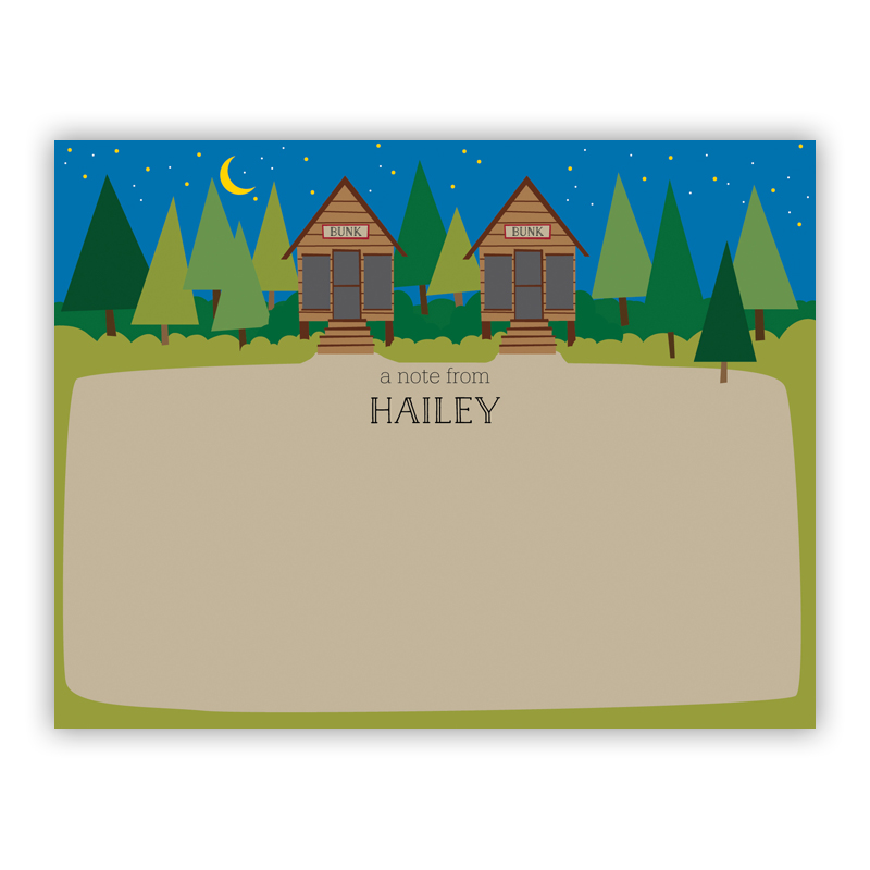 Bunk Small Flat Stationery Note